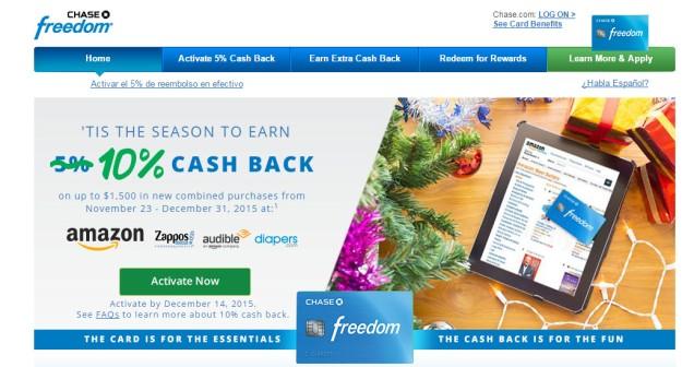 Chase Freedom 10%