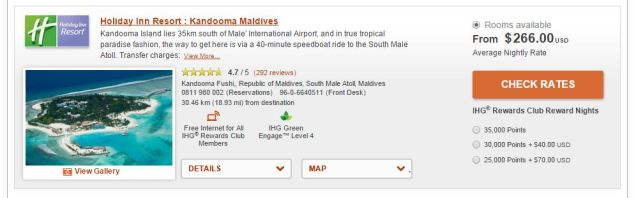 Holiday Inn Maldive price