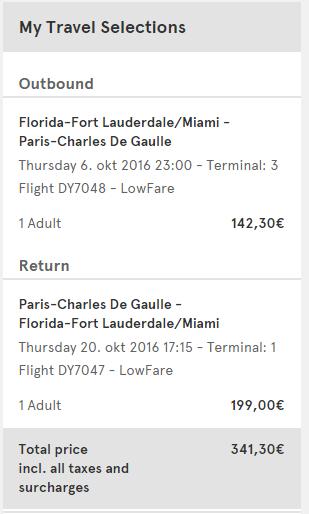 Miami to Paris