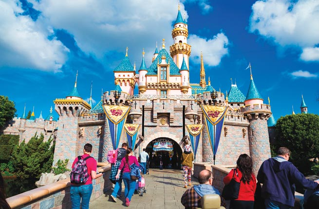 Castle, Disneyland, Anaheim, California