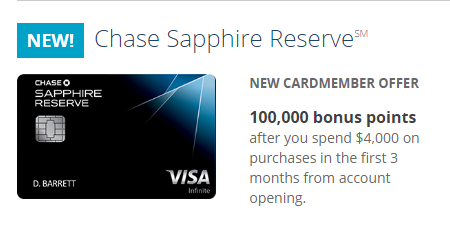Chase Reserve Card
