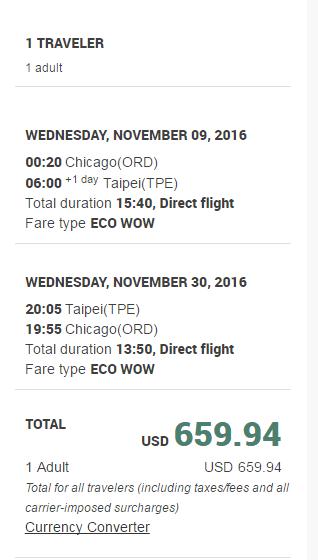 Eva Chicago to TPE