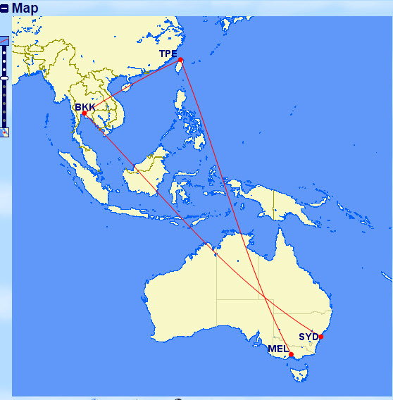 syd-bkk-tpe-mel-map