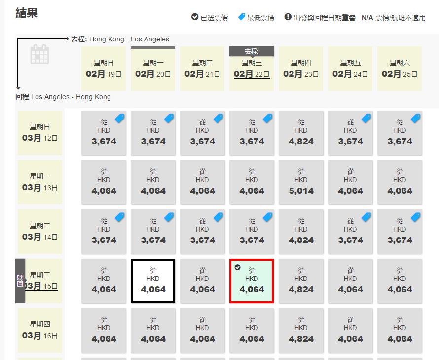 hkg-lax-price-chart