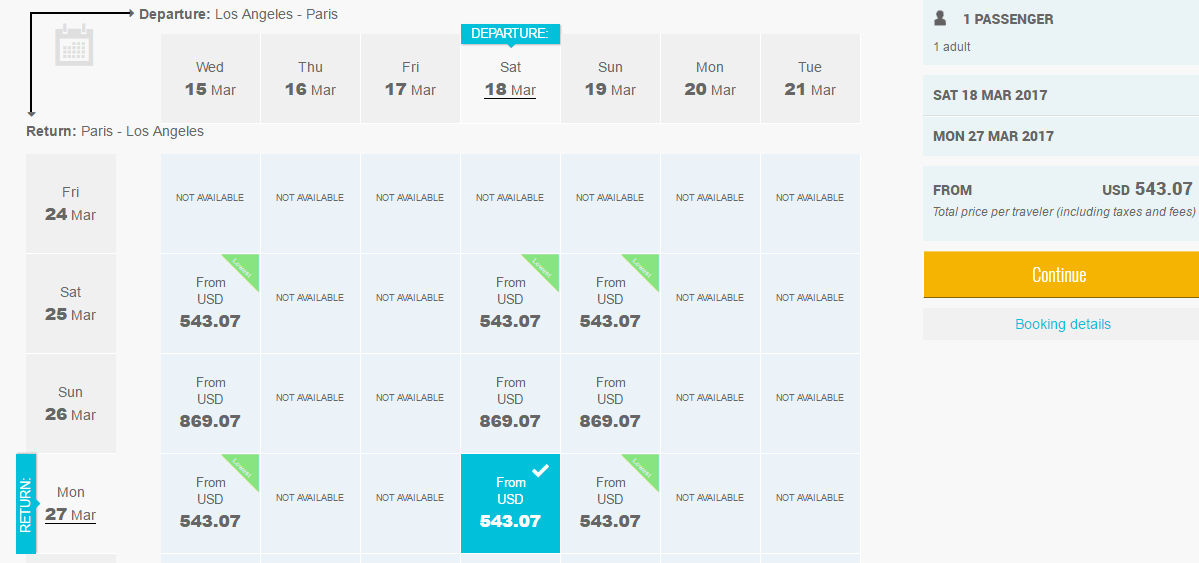 lax-cdg-price-chart