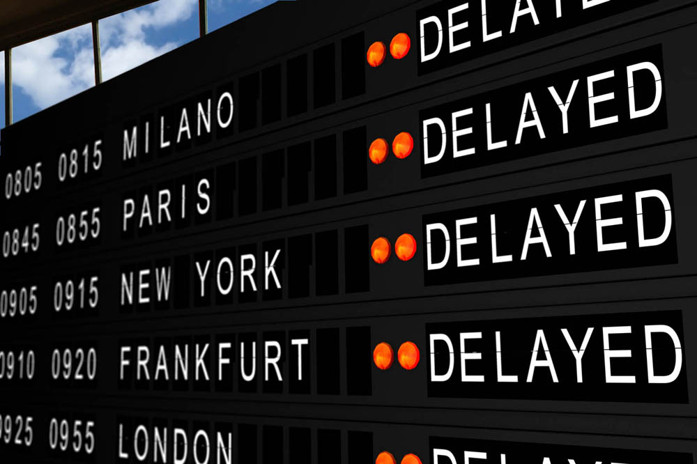Flight Delay screen