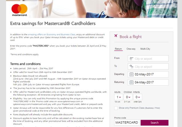 Qatar Mastercard Promo